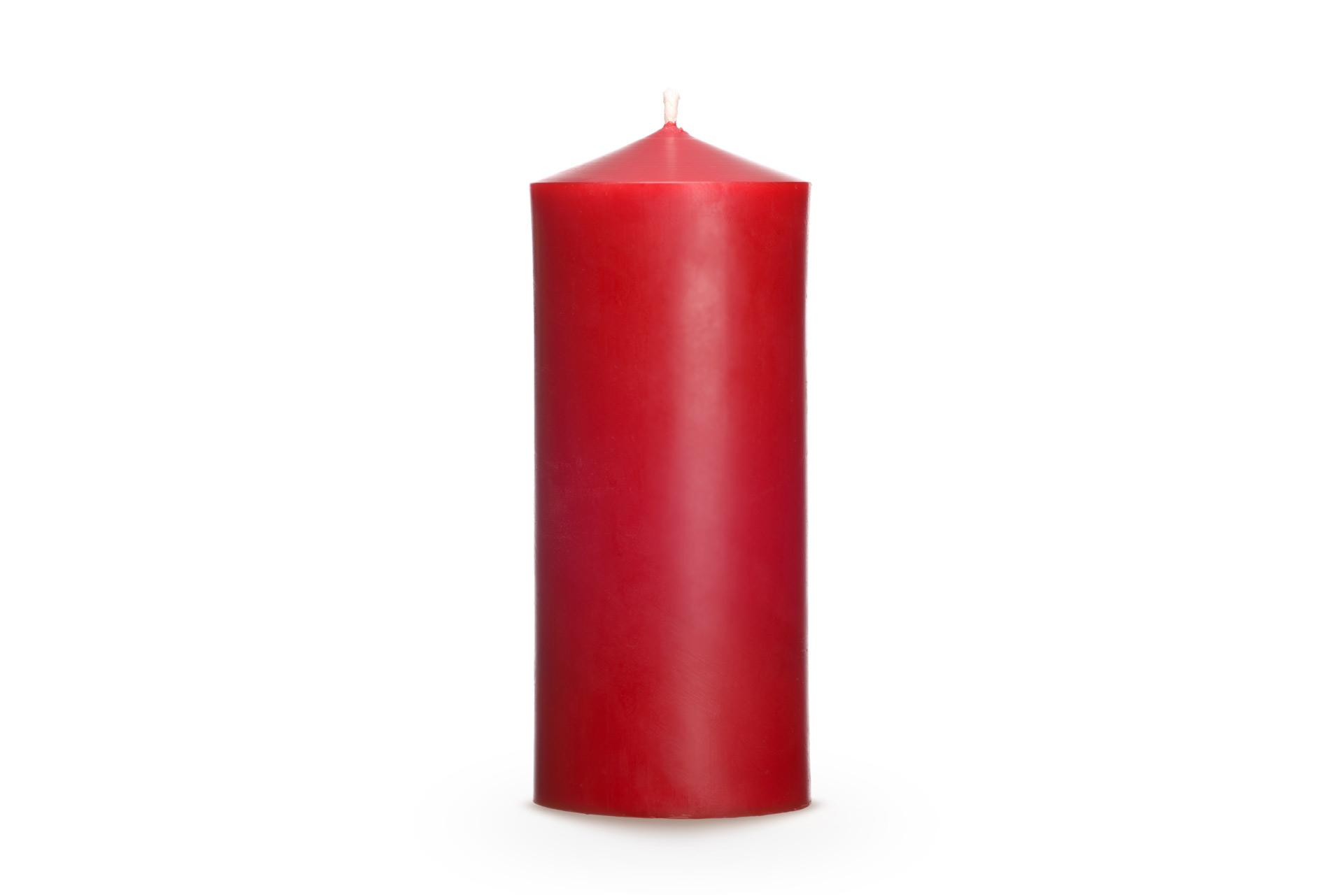 Bienenwachskerzen-Zylindrische-Kerze-Advent-120-rot-unverpackt-ksg