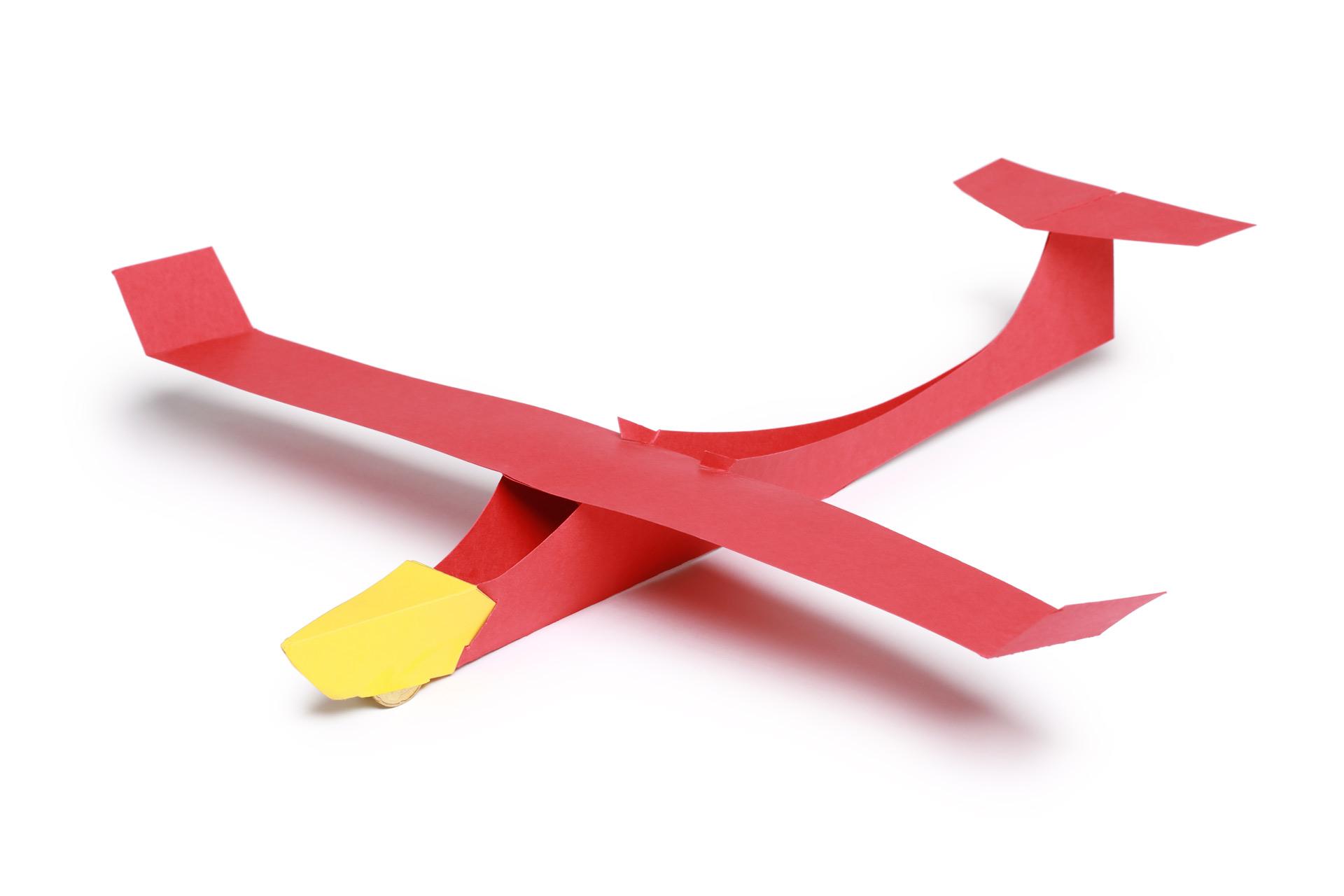 Segelflugsatz-Bausatz-roterSelgelflieger-ksg